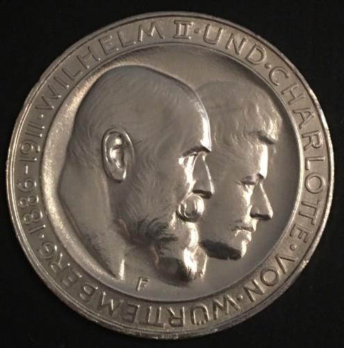 Anniversario Matrimonio Tedesco.3 Marchi 1911 Nozze D Argento Impero Tedesco Valore Della