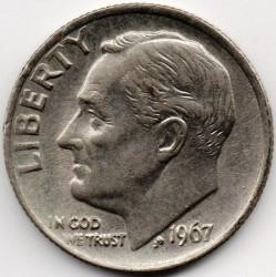 سکه > 1دایم, 1967 - ایالات متحده آمریکا  (Roosevelt Dime) - obverse
