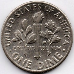 Монета > 1дайм, 1967 - США  (Roosevelt Dime) - reverse