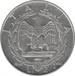 سکه > 2لیره, 1939-1943 - ایتالیا  - reverse