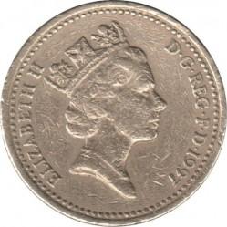 Монета > 1фунт, 1997 - Велика Британія  - obverse