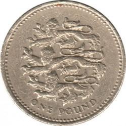Монета > 1фунт, 1997 - Велика Британія  - reverse