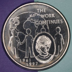 Münze > 5Pfund, 2002 - Guernsey  (5th Anniversary - Death of Princess Diana) - reverse