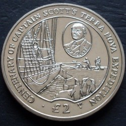 Munt > 2 pounds, 2012 - Brits Antarctisch Territorium  (100th Anniversary - Scott's Terra Nova Expedition) - obverse