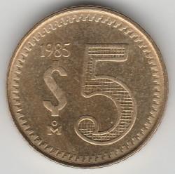 Munt > 5pesos, 1985-1988 - Mexico  - reverse