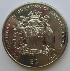Minca > 2pounds, 2008 - Britské Antarktické Teritórium  (100th Anniversary - Granting Letters Patent) - reverse
