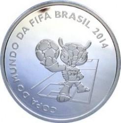 Moneta > 5reali, 2014 - Brazylia  (Mundial 2014 - Przewrotka) - obverse