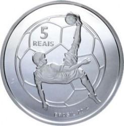 Moneta > 5reali, 2014 - Brazylia  (Mundial 2014 - Przewrotka) - reverse