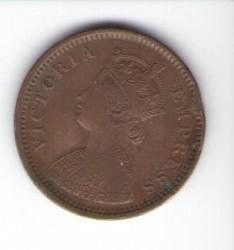 Νόμισμα > ½Πίς, 1885-1901 - Ινδία - Βρετανική  - obverse