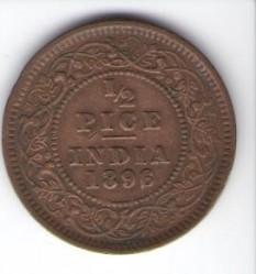Νόμισμα > ½Πίς, 1885-1901 - Ινδία - Βρετανική  - reverse
