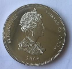 Moneta > 1korona, 2006 - Tristan da Cunha  (Pirackie okręty Południowego Atlantyku - Chausseur) - obverse