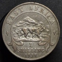 Coin > 1shilling, 1937-1946 - British East Africa  - obverse