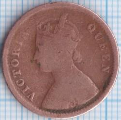 Кованица > ½пицеа, 1862 - Индија - Британија  - obverse