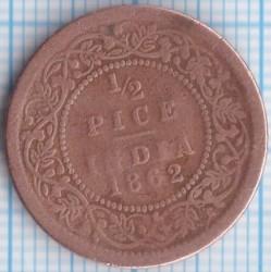Кованица > ½пицеа, 1862 - Индија - Британија  - reverse