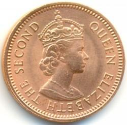 Pièce > ½cent, 1955-1958 - Caraïbe Orientale  - obverse
