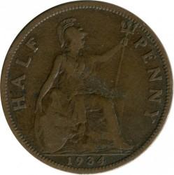 Moeda > ½pence, 1934 - Reino Unido  - reverse