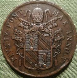 Moneta > 5baiocchi, 1850-1854 - Państwo Kościelne  - reverse
