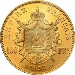 Münze > 100Franken, 1855-1860 - Frankreich  - reverse