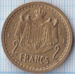 Moneta > 2franki, 1945 - Monako  - obverse