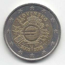 Монета > 2евро, 2012 - Словакия  (10 лет евро наличными) - obverse