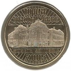 Moneta > 50banių, 2015 - Rumunija  (10th Anniversary - Denomination Currency) - reverse