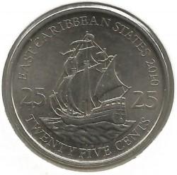 سکه > 25سنت, 2010-2016 - کاراییب شرقی  - reverse