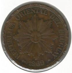 Νόμισμα > 4Σεντέσιμος, 1869 - Ουρουγουάη  - obverse