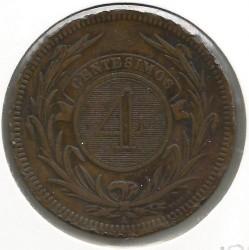 Νόμισμα > 4Σεντέσιμος, 1869 - Ουρουγουάη  - reverse