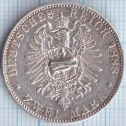 Moneda > 2marcos, 1888 - Alemán (Imperio)  (Federico III) - reverse