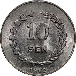 Moneda > 10 sen, 1962 - Indonesia  - obverse