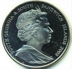 سکه > 2پوند, 2003 - گرجستان جنوبی  (275th Anniversary - Birth of James Cook) - obverse
