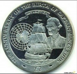 سکه > 2پوند, 2003 - گرجستان جنوبی  (275th Anniversary - Birth of James Cook) - reverse