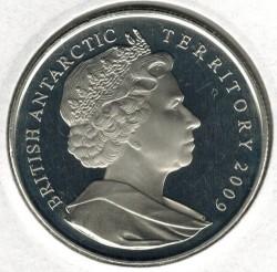 Moneta > 2funty, 2009 - Brytyjskie Terytorium Antarktyczne  (50 rocznica - Układ Antarktyczny) - obverse