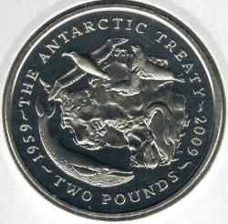 Moneta > 2funty, 2009 - Brytyjskie Terytorium Antarktyczne  (50 rocznica - Układ Antarktyczny) - reverse