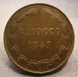 Монета > 1байокко, 1846-1848 - Папська область  - reverse