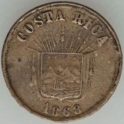 Moeda > 1centavo, 1865-1868 - Costa Rica  - obverse