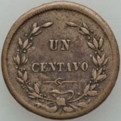 Moeda > 1centavo, 1865-1868 - Costa Rica  - reverse