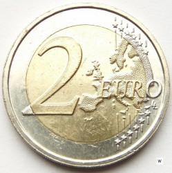 Münze > 2Euro, 2015 - Niederlande  (Dreißigjähriges Bestehen der EU-Flagge) - obverse