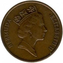 Pièce > 1cent, 1986-1990 - Bermudes  - obverse