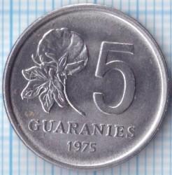 Moneta > 5gvaraniai, 1975 - Paragvajus  - reverse
