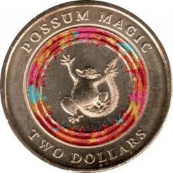 Moneta > 2dollari, 2017 - Australia  (Possum Magic - Happy Hush) - reverse