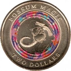 Moneta > 2dollari, 2017 - Australia  (Possum Magic - Hush Can See Her Tail Again) - reverse