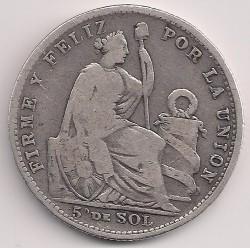 Pièce > ⅕sol, 1888-1917 - Pérou  - reverse