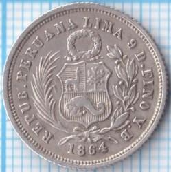 Кованица > 1dinero, 1863-1877 - Перу  - obverse