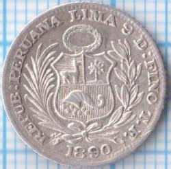Münze > ½Dinero, 1890-1917 - Peru  - obverse