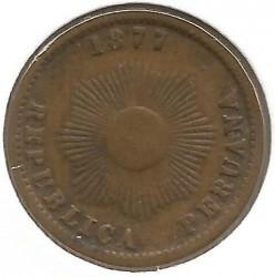 Moneda > 1centavo, 1875-1878 - Perú  - obverse