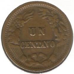 Moneda > 1centavo, 1875-1878 - Perú  - reverse