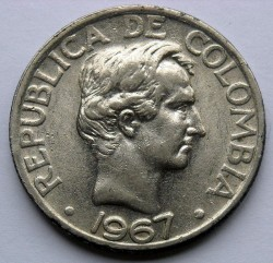 Coin > 50 centavos, 1967-1969 - Colombia  - obverse