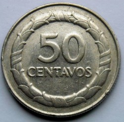 Coin > 50 centavos, 1967-1969 - Colombia  - reverse