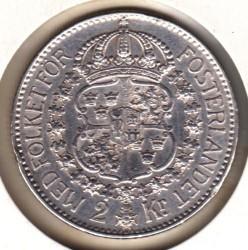 Mynt > 2kroner, 1928 - Sverige  - reverse